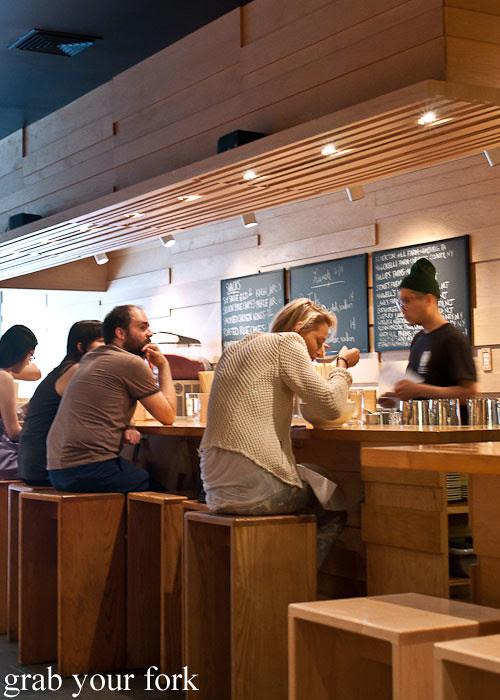 stool counter seating at momofuku noodle bar nyc new york david chang