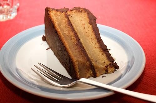 almond and chocolate cake