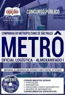 Apostila Concurso METRÔ SP 2018 | OFICIAL LOGÍSTICA - ALMOXARIFADO I