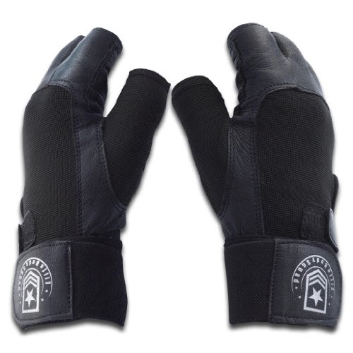 Weight Lifting Gloves - Soft Leather Gym Gloves With Wrist Support + Double Stitched Fingers And Palm - Breatheable Mesh Lycra On Back + Easy Open Finger Tab Size Adjuster, Size L
