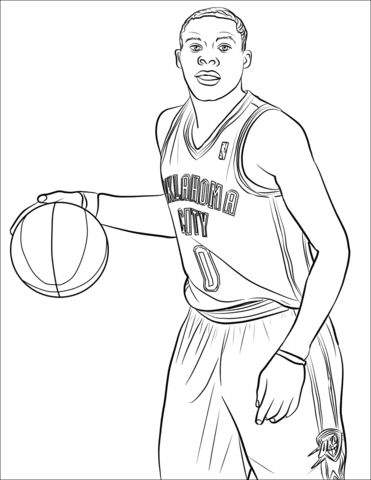 Curry Basketball Player Coloring Pages Coloring And Drawing