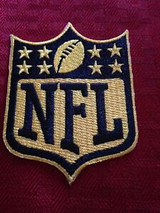 NFL Logo 50th Ann. Gold Patch Shield Crest Badge Iron On Sew On Shirt *In Stock*  eBay