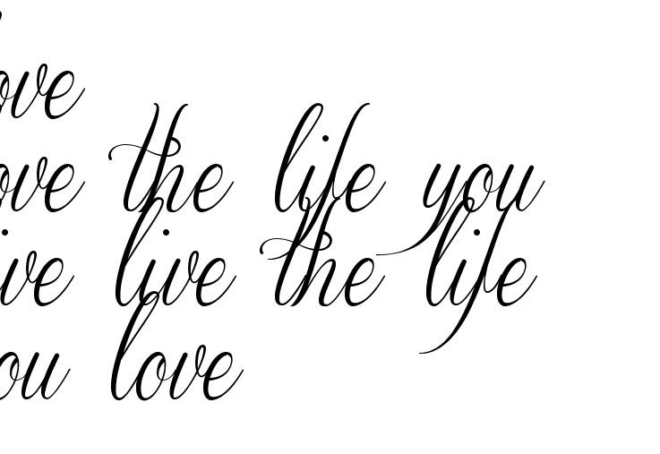 Love Love The Life You Live Live The Life You Love Tattoo Script