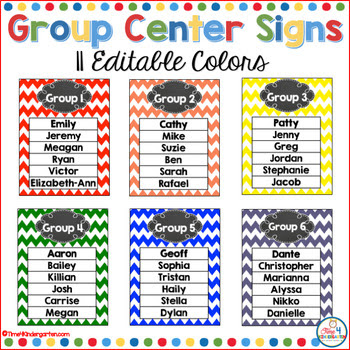 grouping posters, kindergarten groups, chevron posters