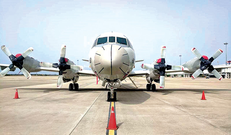 Japan Maritime Self-Defense Force (JMSDF) arrived at the Mattala Airport to train Sri Lankan troops on Lockheed P-3 Orion, a four-engine turboprop anti-submarine and maritime surveillance aircraft
