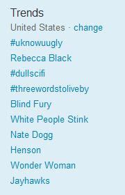 Rebecca Black Trending on Twitter