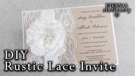 How to make a rustic wedding invitation   DIY invitations