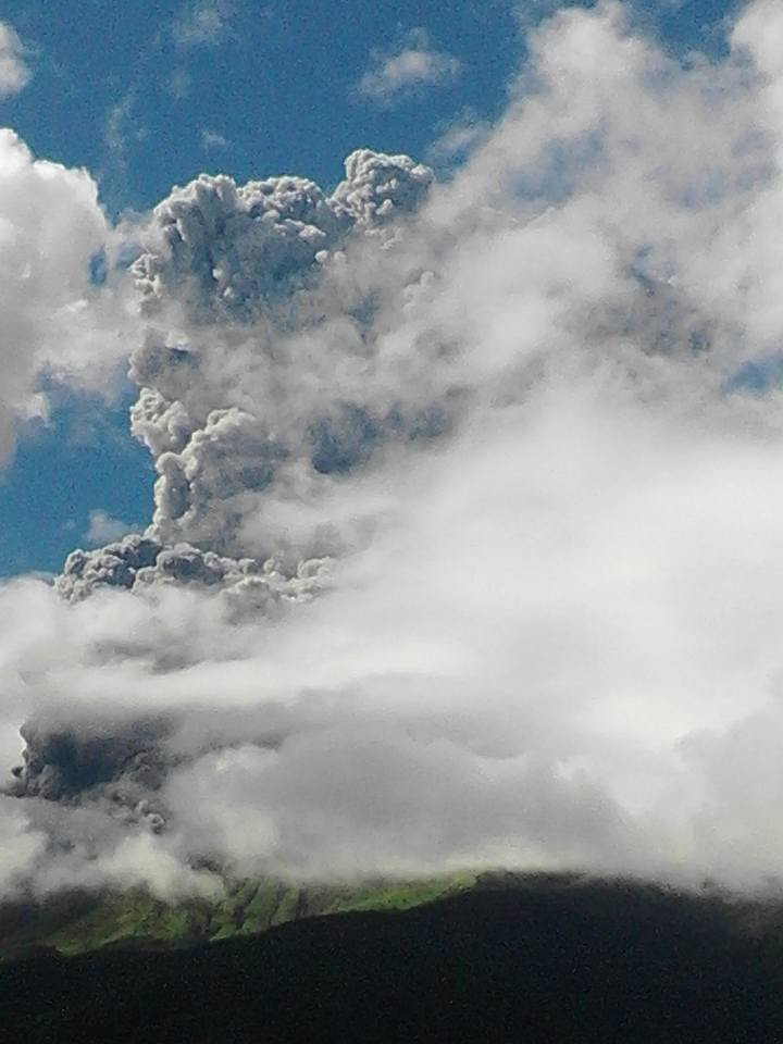 Kanlaon éruption, éruption Kanlaon, Kanlaon photo de l'éruption, éruption Kanlaon décembre 2015, l'éruption du volcan Kanlaon 25 décembre 2015