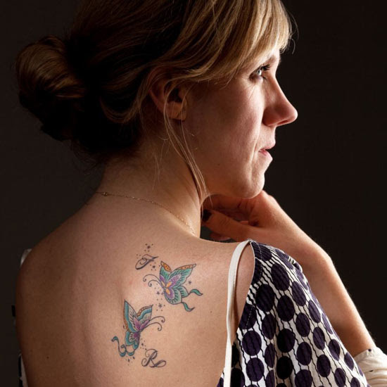 'My love for my family is etched on my back'
