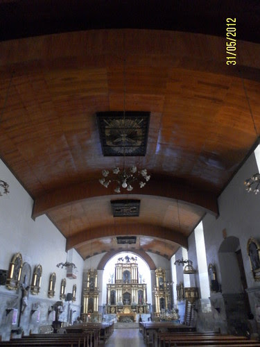 wooden ceiling of San Sebastian Parish Church