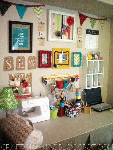 Sewing Room Ideas - The Seasoned Homemaker