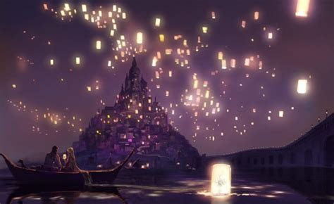 tangled floating lanterns desktop wallpaper