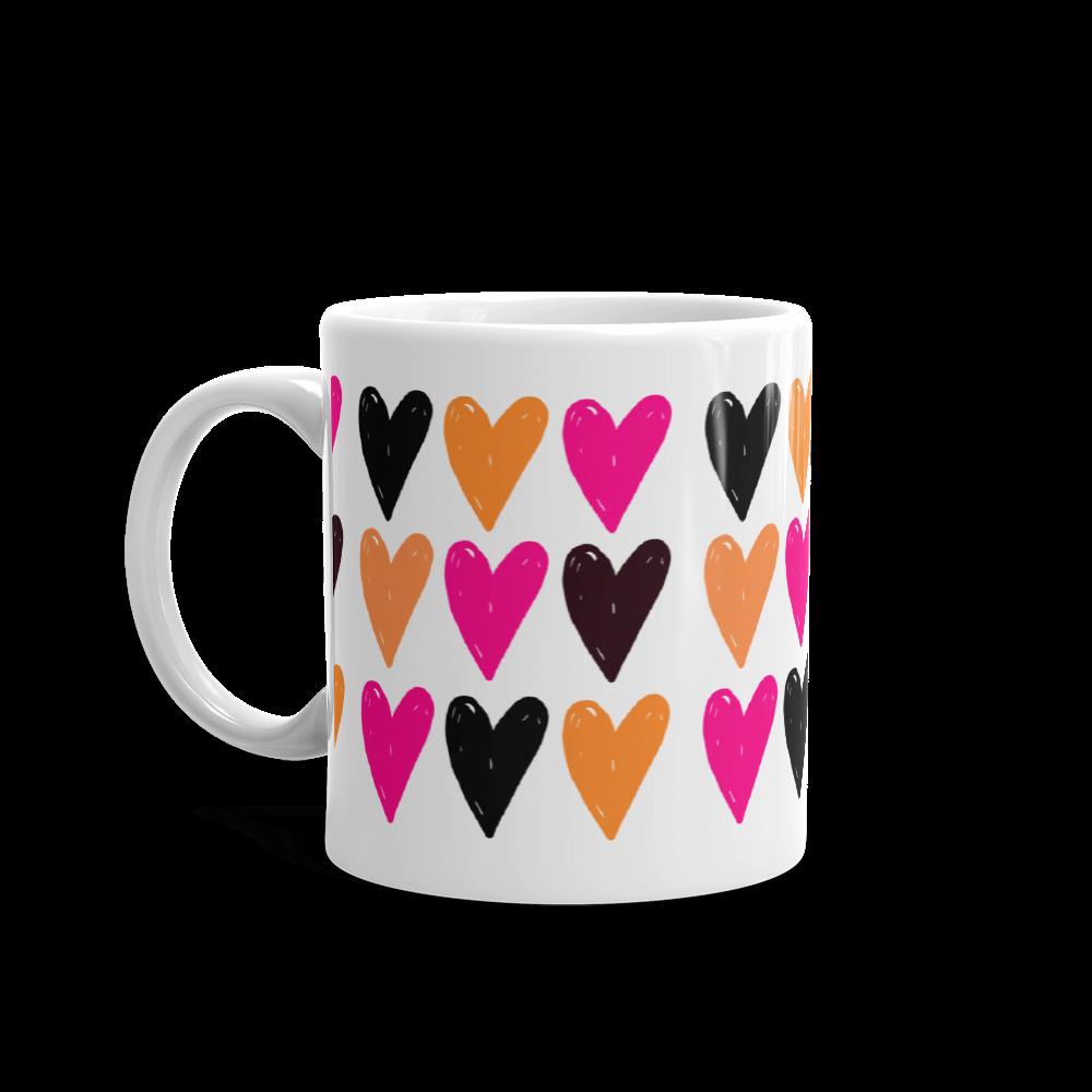 Heart Pattern Coffee Mug Blomma