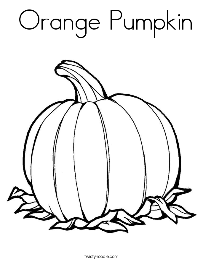 Orange Pumpkin Coloring Page  Twisty Noodle