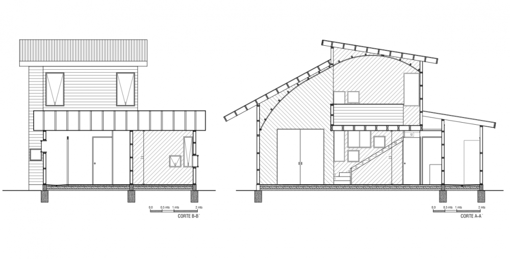 Casa la cruz enrique gonz lez rathje tecno haus for Arquitectura nota de corte