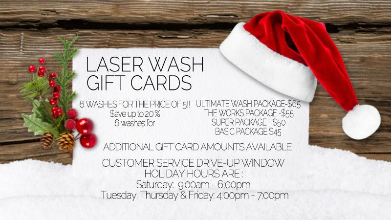 laser wash gift cards