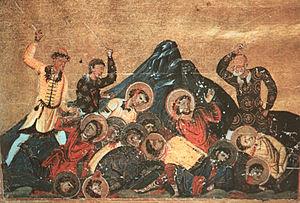 English: Pagans kill Christians in Pliska.