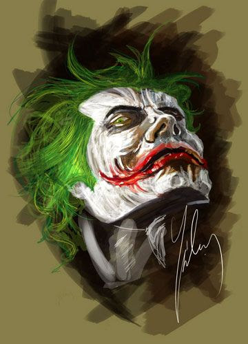 The Joker artwork.