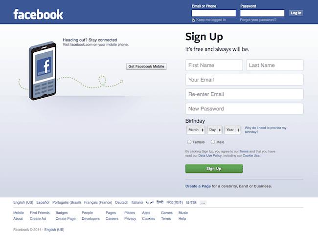 Facebook design today