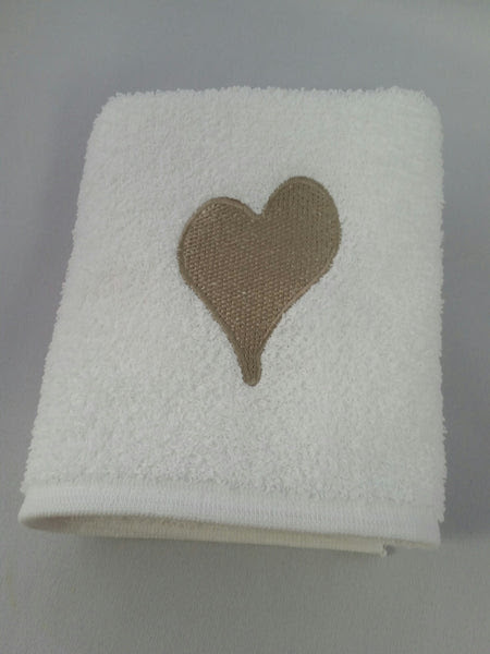 Heart Crown Fleur De Lis Hand Towels Pico Charlie Cole