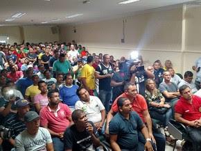 Rodoviários votaram, por unanimidade, o início da greve (Foto: Divulgação/Sindicato dos Rodoviários de Belém)
