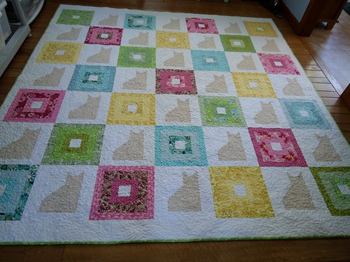 Cat Quilt: Before washing