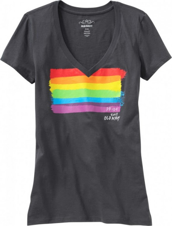 old navy's gay pride tshirts go on sale this wednesday