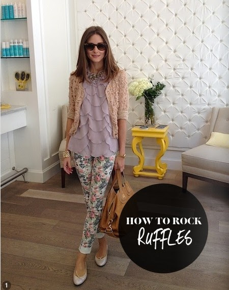 Olivia Palermo on How to Rock #ruffles { #fashion #summer #trend #looks #outfit #style }