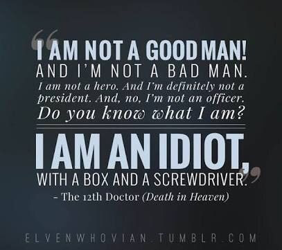 Im Not A Good Man Doctor Who Amino