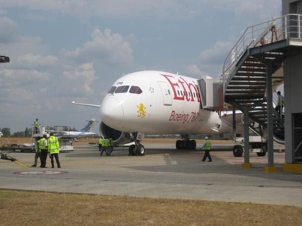 Ethiopian 787 in Harare