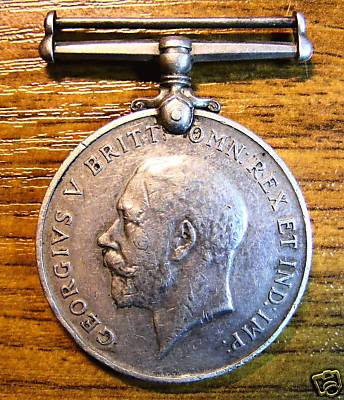 World War I Silver Medal that was awarded to Robert Edgar Pask
