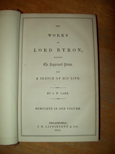 Library Book Sale 9-09: Bryon title page