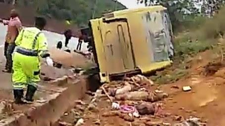 Acidente ocorreu em Brumadinho, na divisa com Igarapé, segundo a Autopista Fernão Dias.