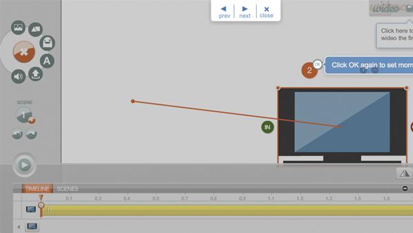 يسمح للمستخدم إنشاء مقاطع تفاعلية بكل سهولة ودون الحاجة إلى خبرات