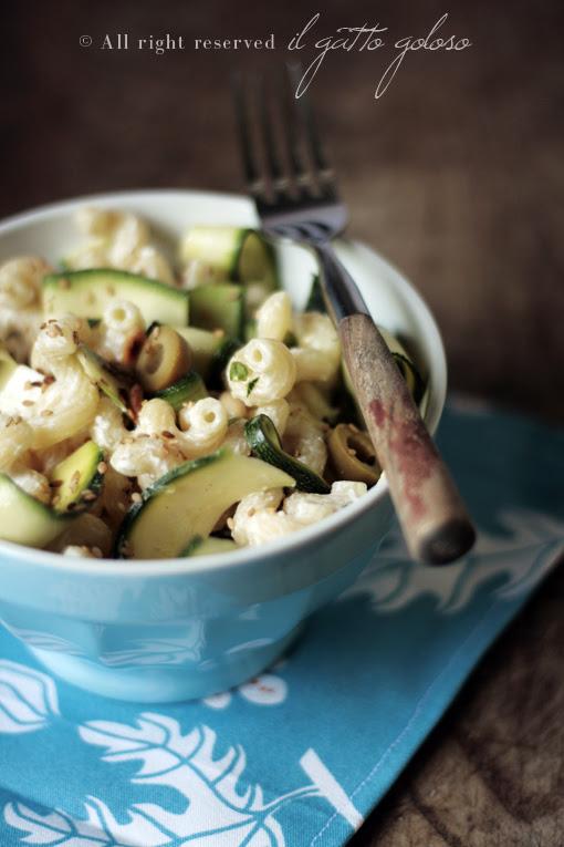 pasta fredda zucchine marinate