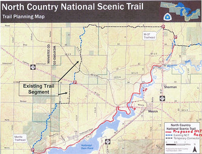 Map of Proposed North Country Trail reroute