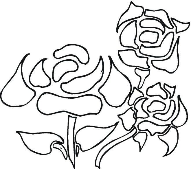taibezzsali: Coloring Pages Of Flowers And Roses