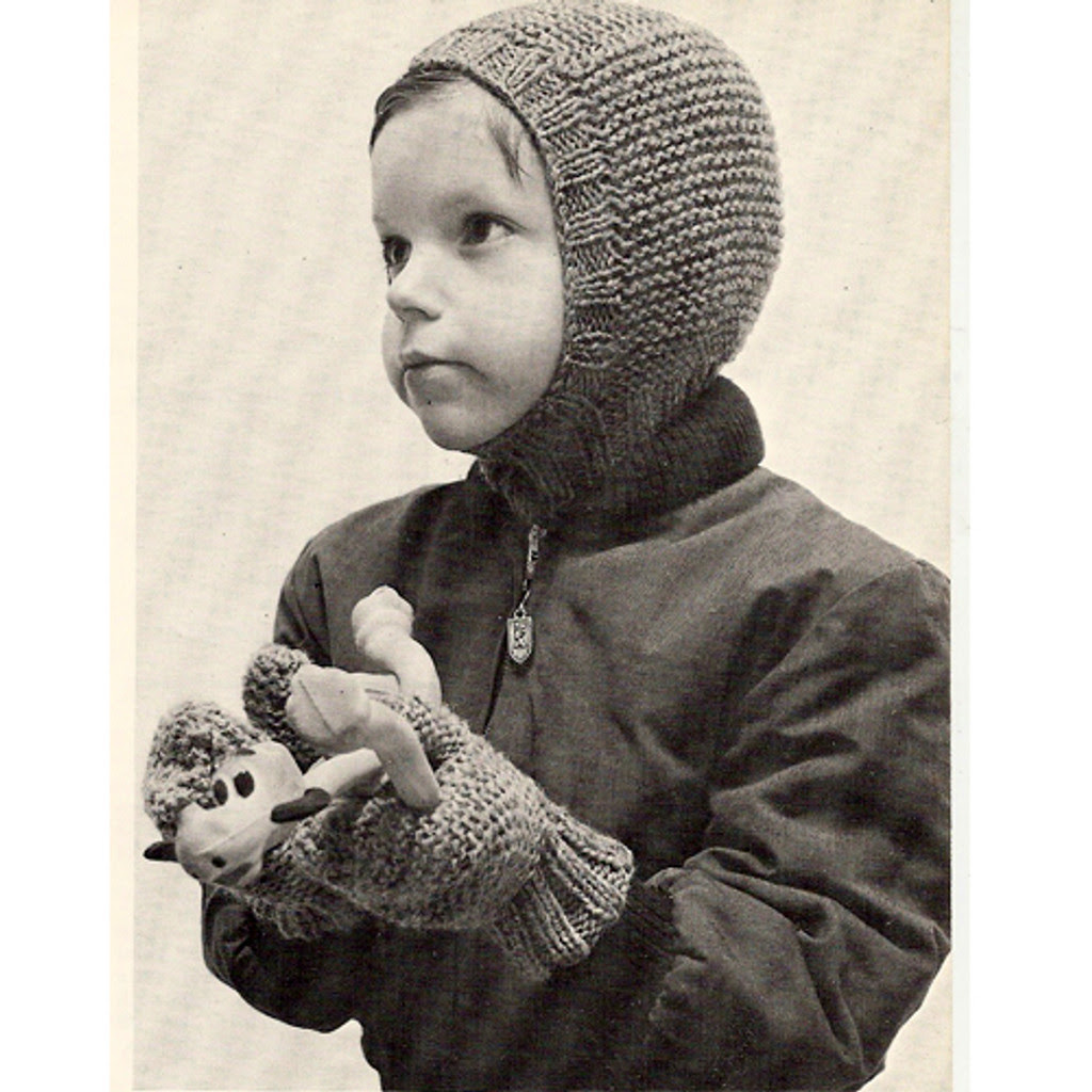 boys helmet knitting pattern with mittens
