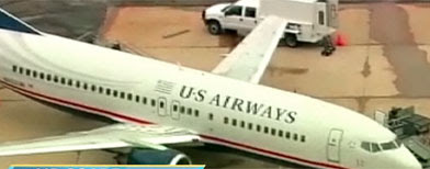 US Airways plane found to have bullet hole (ABC News)