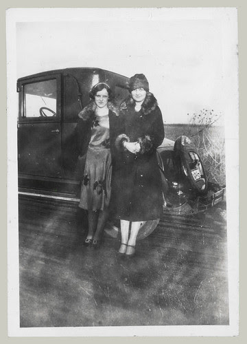 Two women and a car
