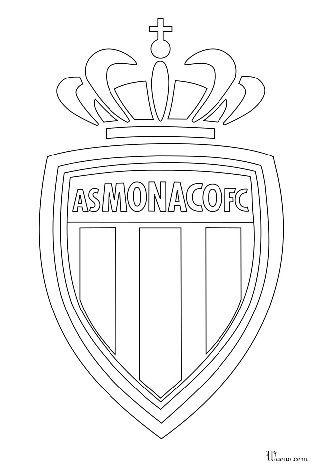 Coloriage Logo As Monaco à Imprimer Et Colorier
