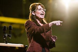 Alaska Governor Sarah Palin in Dover, NH.