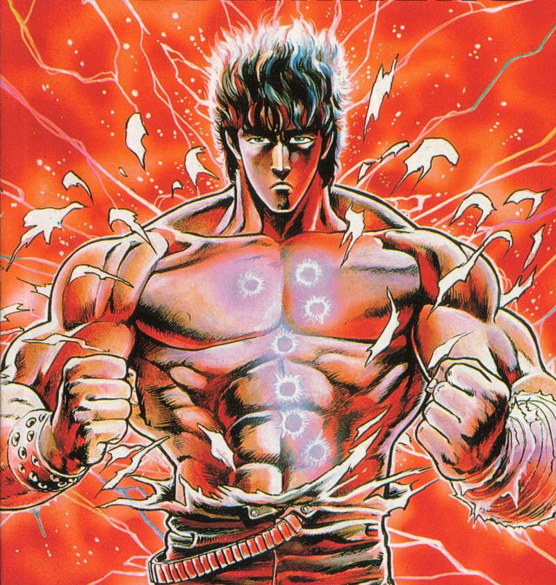 Kenshiro sin camisa