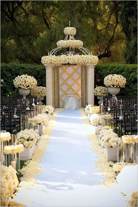 Wedding Ceremony Decoration Ideas, Wedding Aisle Designs #
