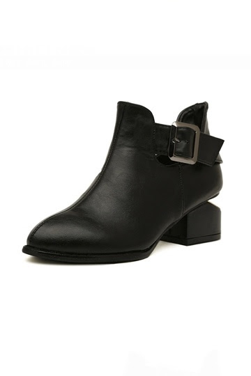 Simple Design High Street  Boot with  Velvet