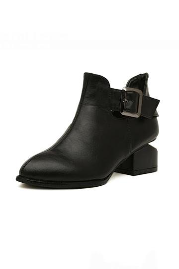 Simple Design High Street  Boot with  Velvet