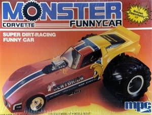 1980s Chevy Corvette Monster Super Dirt Racing Funny Car 1 25 Fs