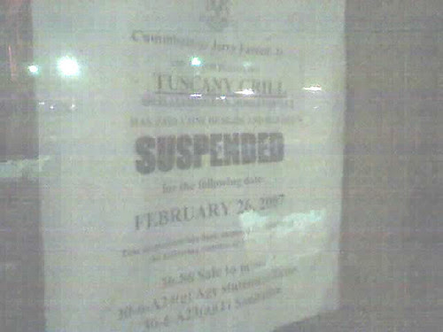 SUSPENDED!