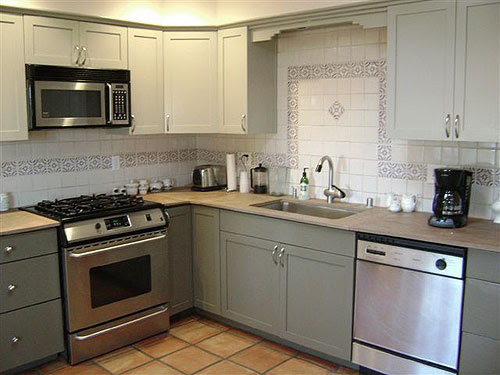Kitchen: Luxurious Kitchen Cupboard Paints In Grey Color Idea With ...