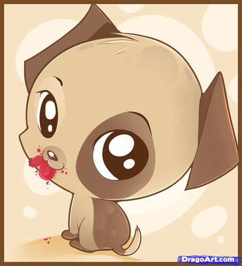 draw  chibi puppy step  step chibis draw